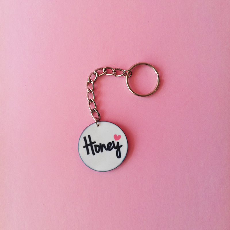 Sublimation Round Key Chain (3)